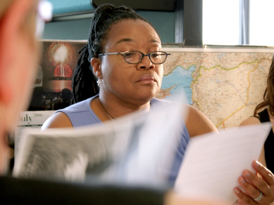 NPR's Carline Watson, who started working at <em>Talk of the Nation</em> in 2005.