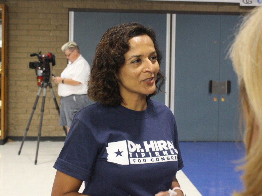 Democrat Hiral Tipirneni, who outraised Republican candidate Lesko by almost $200,000, has said she will run again in November.