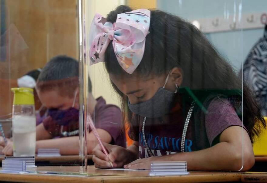 Sun Sentinel photo classsroom student plexiglass.jpeg