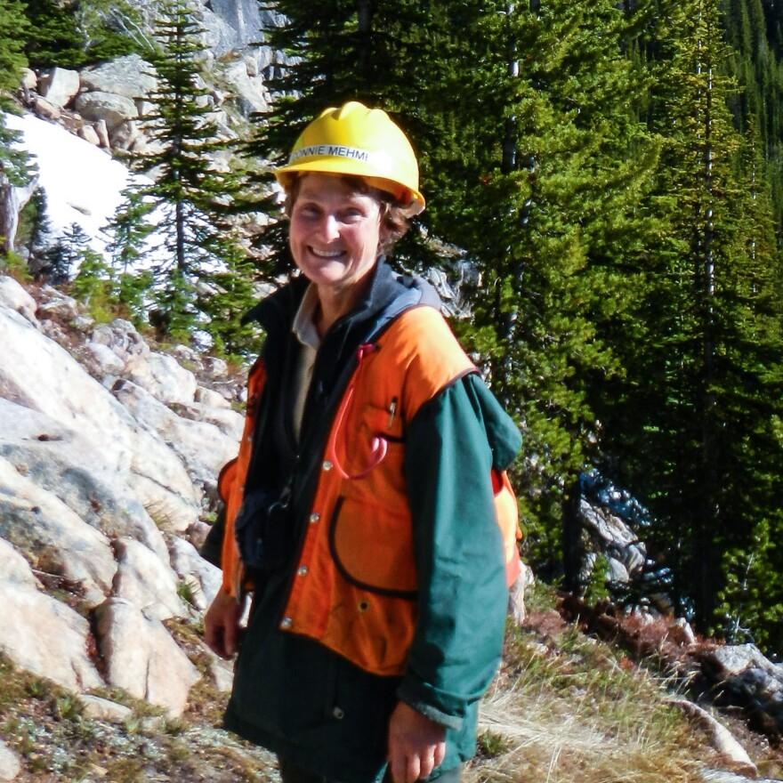 Connie Mehmel in Washington's Okanogan-Wenatchee National Forest in 2012.