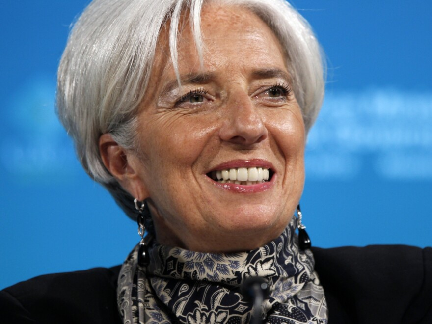 International Monetary Fund Managing Director Christine Lagarde announced Friday that the IMF had raised $430 billion, surpassing its stated goal.