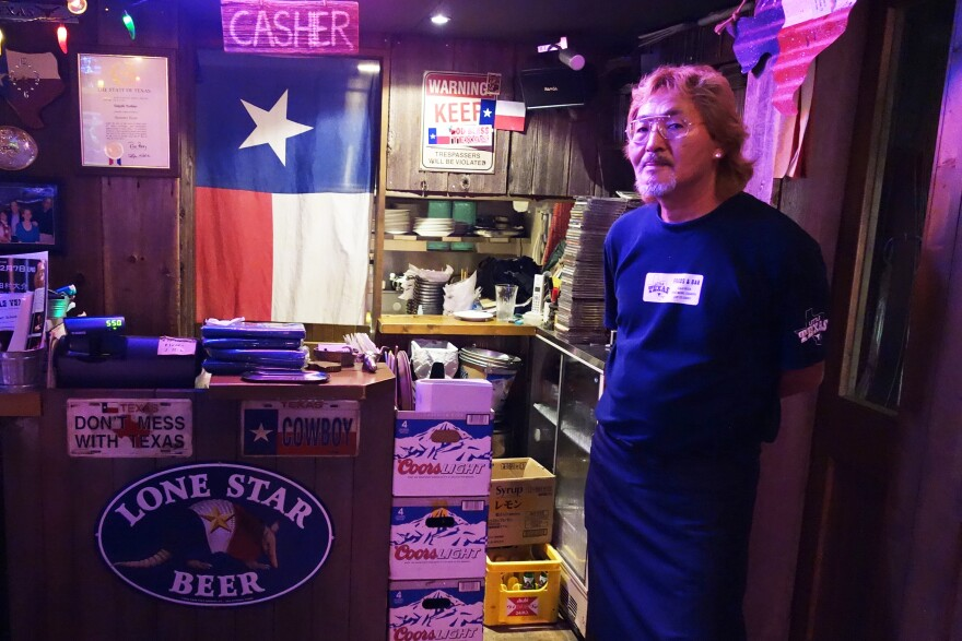 Takeshi Yoshino, the owner of Little Texas in Tokyo, was made an honorary Texan in 2011.
