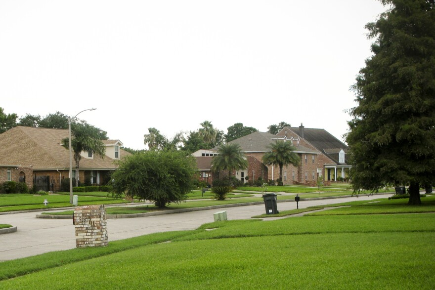 Large homes and lush lawns are common in Lake Forest Estates, a subdivision in New Orleans East. After Katrina, 6-foot-deep floodwaters devastated the region.
