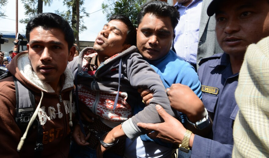 Jiwan B.K., who fainted in front of the media in Kathmandu in March 2015, confessed to attacking Sangita Magar, saying he did so because she refused his romantic advances.