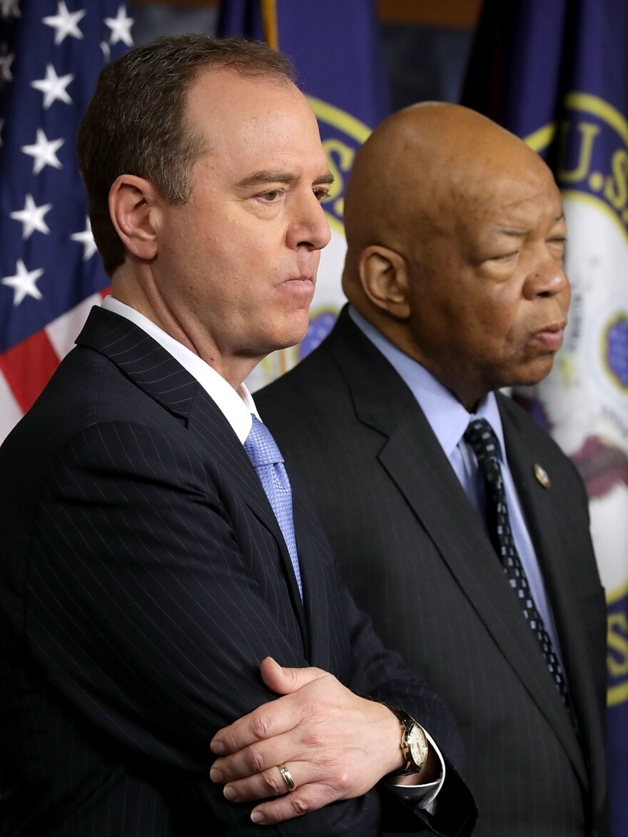 House intelligence committee Ranking Member Adam Schiff (left) and oversight committee Ranking Member Elijah Cummings have a lot they want to tackle if they become chairmen.