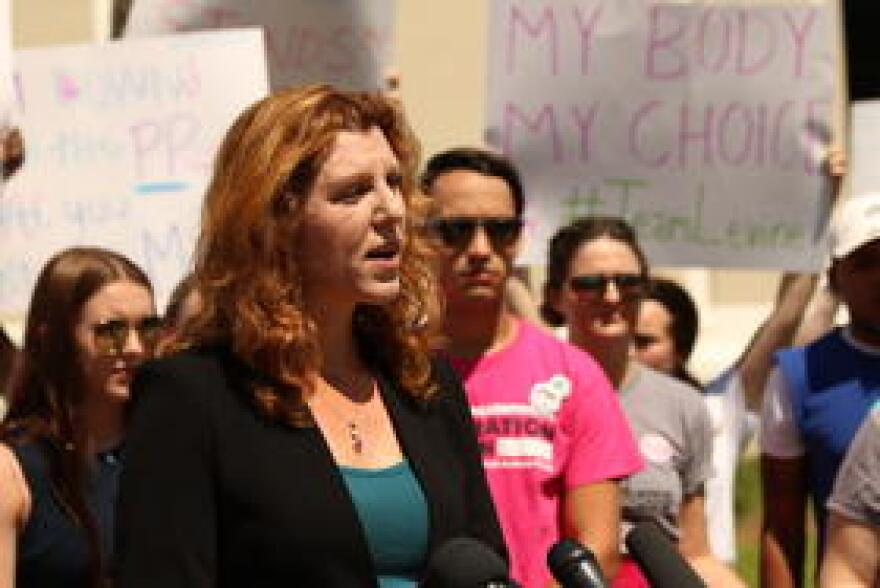 Leon County Commissioner Kristin Dozier joined representatives from Planned Parenthood and other groups to oppose Brett Kavanaugh's nomination to the U.S. Supreme Court