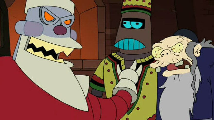 Santabot, Kwanzaabot and the Chanukah Zombie are the members of <em>Futurama</em>'s Holiday Trinity.