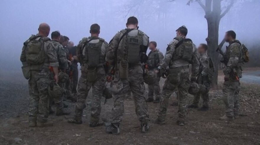 Members of the FBI's Hostage Rescue Team during a training exercise in Quantico, Va. Two FBI agents who were part of the unit died Friday during a training exercise offshore near Virginia Beach, Va.