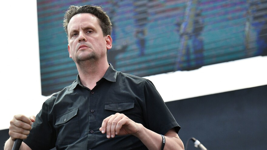 Mark Kozelek, performing as  Sun Kil Moon on Sept. 30, 2018 in Long Beach, Calif.