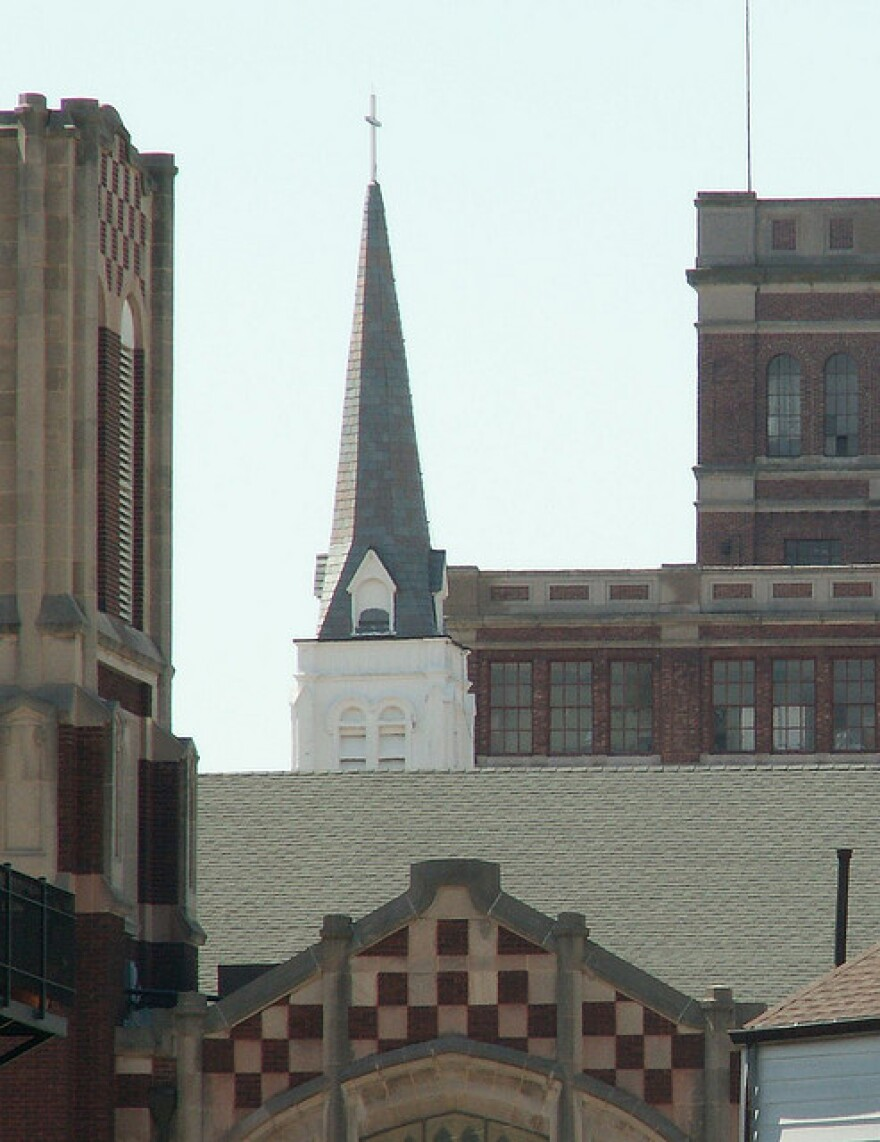 Downtown Springfield buildings.