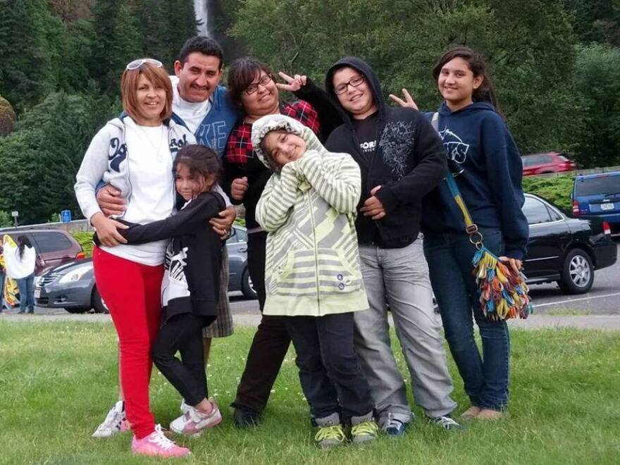 Karla Rodriguez and her family: Evelia Beltran (from left), Aileen Orozco, Cesar Orozco, Karla Rodriguez, Evelyn Orozco, Brandon Orozco and Brenda Orozco.