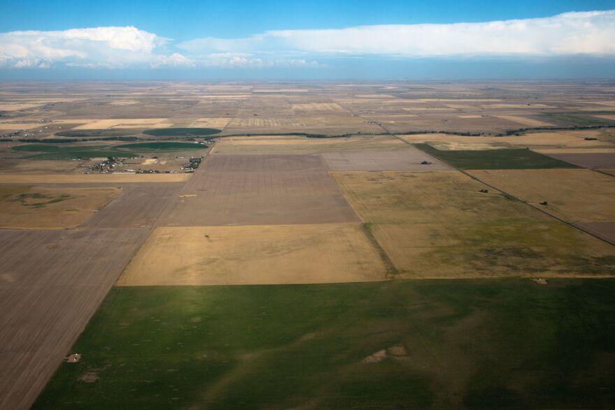 A file photo of farmland near Denver in 2016.