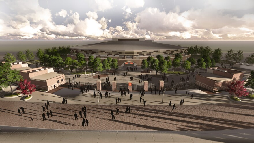 The Music Center at the Heights is expected to open in the spring.