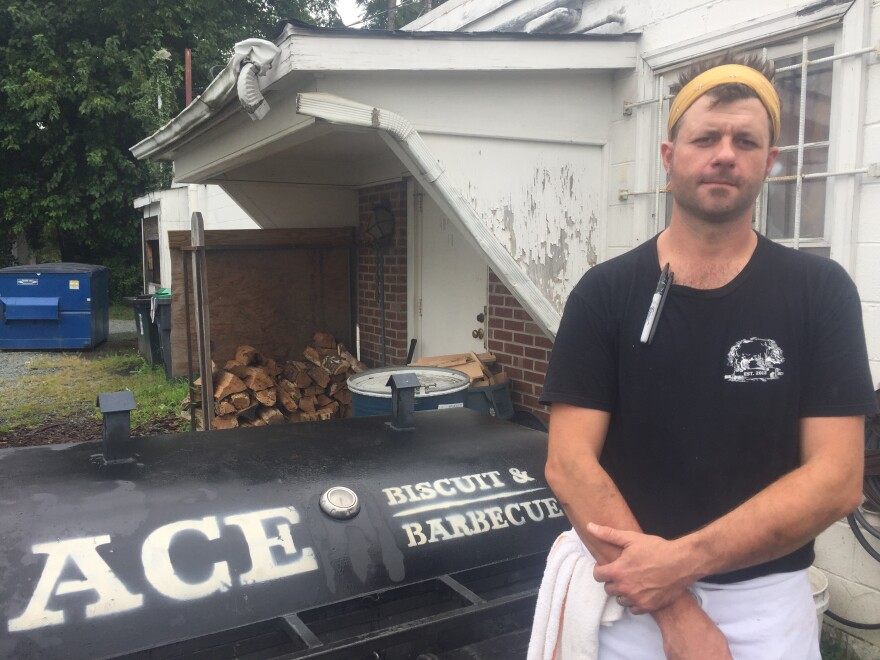 Chef/owner Brian Ashworth over the weekend ran neo-Nazis out of his barbecue restaurant, Ace Biscuit & Barbecue, in Charlottesville, Va.