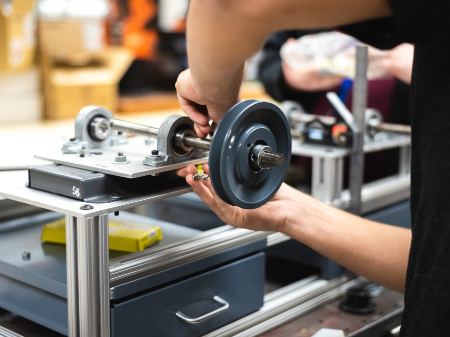 Students at Walker Valley High School in Cleveland, Tenn., can graduate with 12 college credits if they complete the school's mechatronics program.
