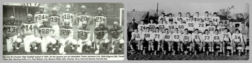 Dunbar High School and Fairmont Senior High School Team Photos 1954