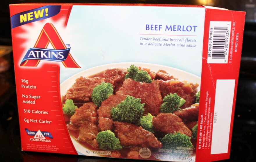 A Beef Merlot dinner from the Atkins frozen food line, launched in January.