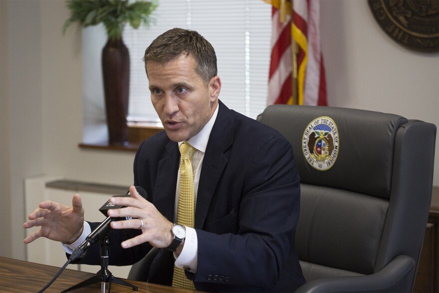 Gov. Eric Greitens sits down for an interview with St. Louis Public Radio in downtown St. Louis on July 17, 2017.