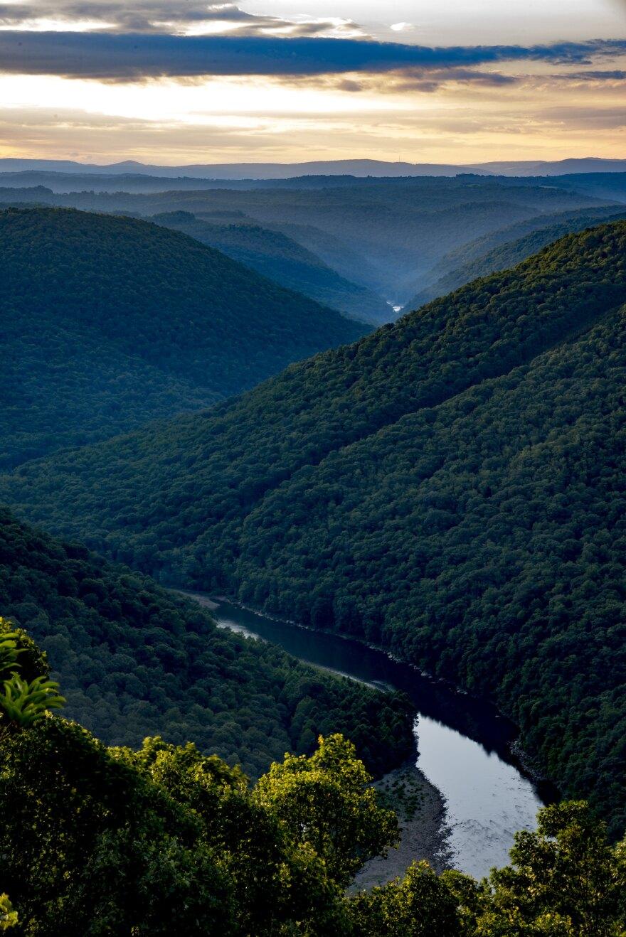 The Cheat River canyon on the Monongalia/Preston county line.