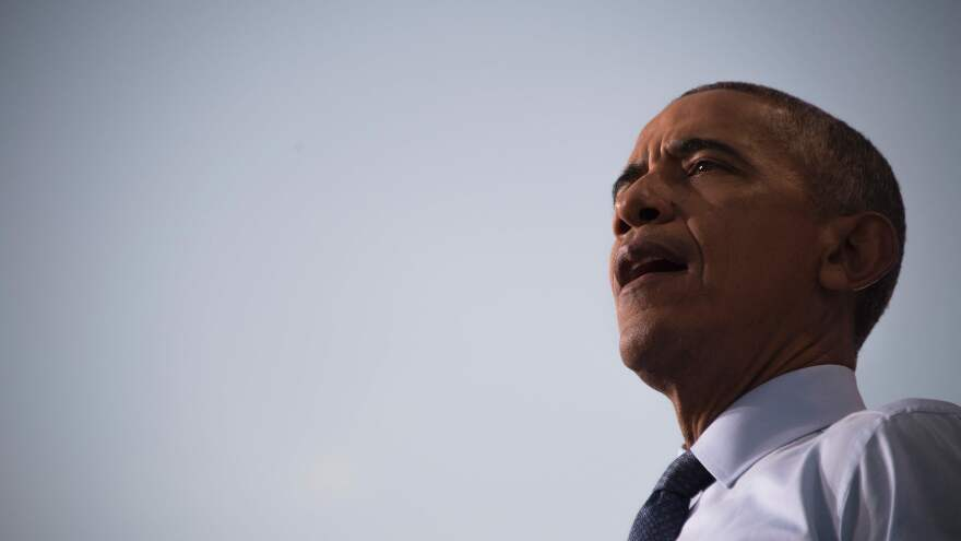 President Obama speaks during a campaign event for Hillary Clinton in Greensboro, N.C., on Oct. 11.