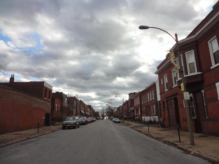 A photo of Oregon Avenue in Gravois Park neighborhood. The Regional Health Commission has identified the south St. Louis neighborhood as having a significant need for low-cost primary care.