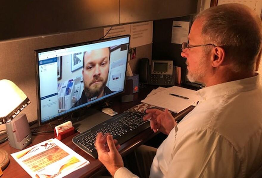 Demonstration of a VA Vet Center virtual appointment