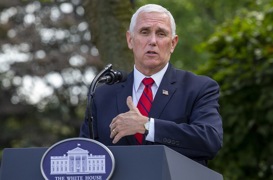 Vice President Pence, seen during a press conference at the White House on Sept. 28, will begin a campaign tour through key swing states following the vice presidential debate on Wednesday.