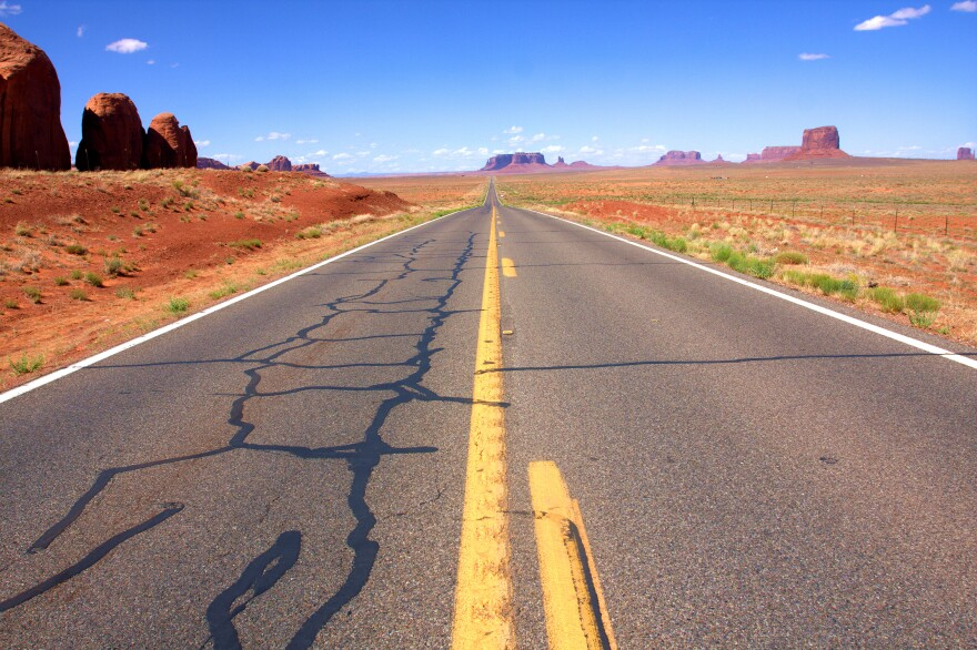 Photo of road on Navajo reservation.