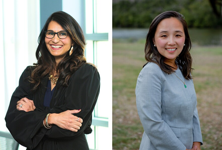 Incumbent Judge Dimple Malhotra (left) is competing against Margaret Chen Kercher for the Democratic nomination for County Court Law No. 4.
