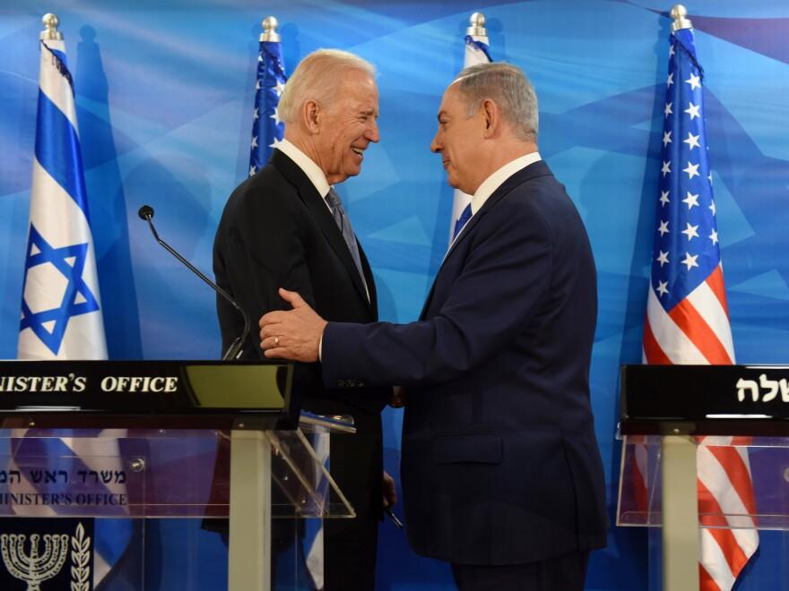 Then-Vice President Biden with Israeli Prime Minister Benjamin Netanyahu in Jerusalem in 2016.