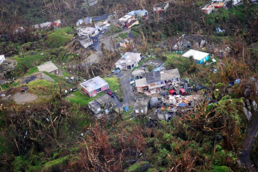 Damage from Hurricane Maria in Puerto Rico.