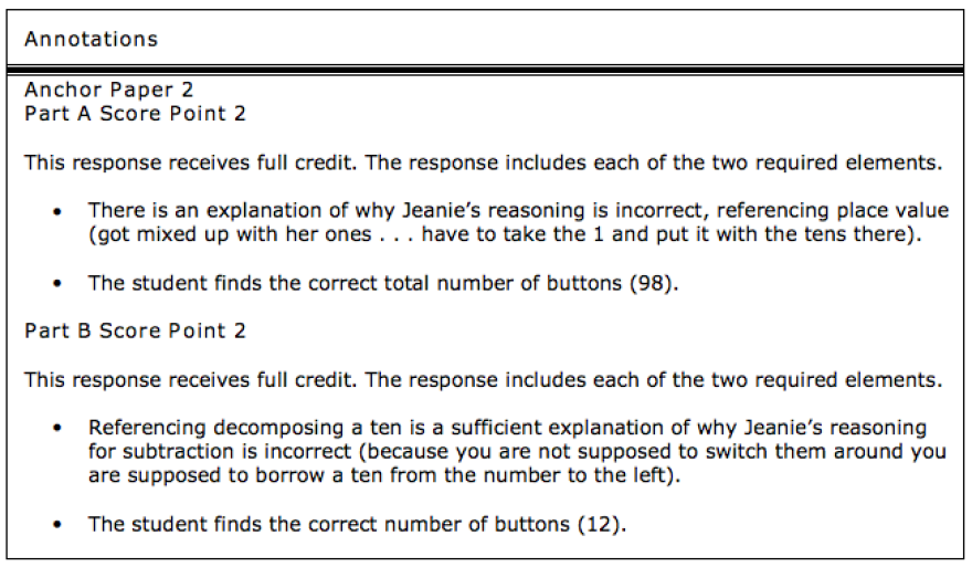 Answer evaluation from actual student sample.
