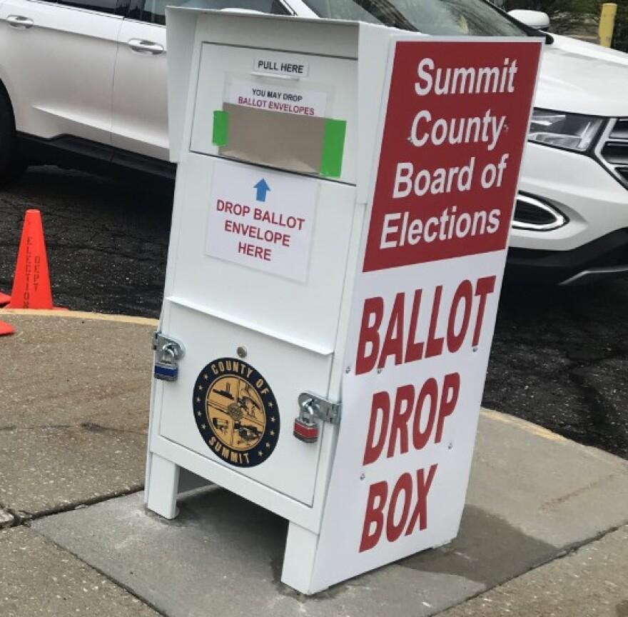 a photo of Summit county ballot drop box