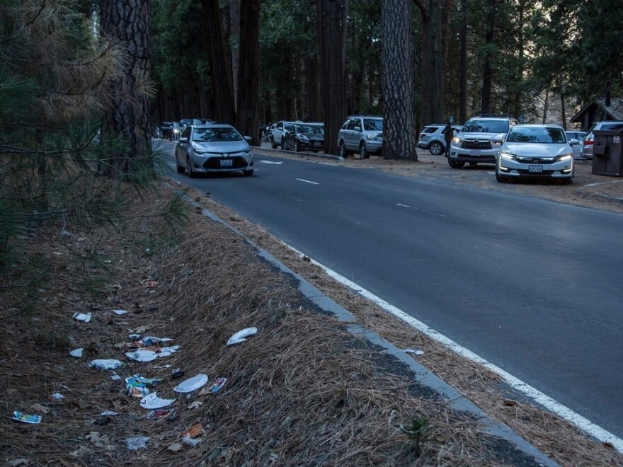 Ken Yager said visitors to Yosemite National Park often throw trash out their car windows.