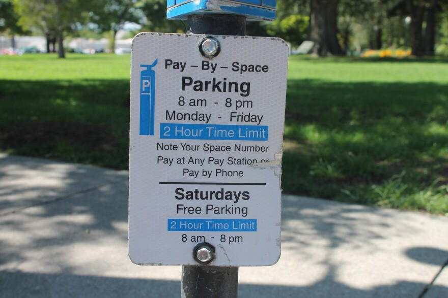 Photo of a sign explaining parking regulations