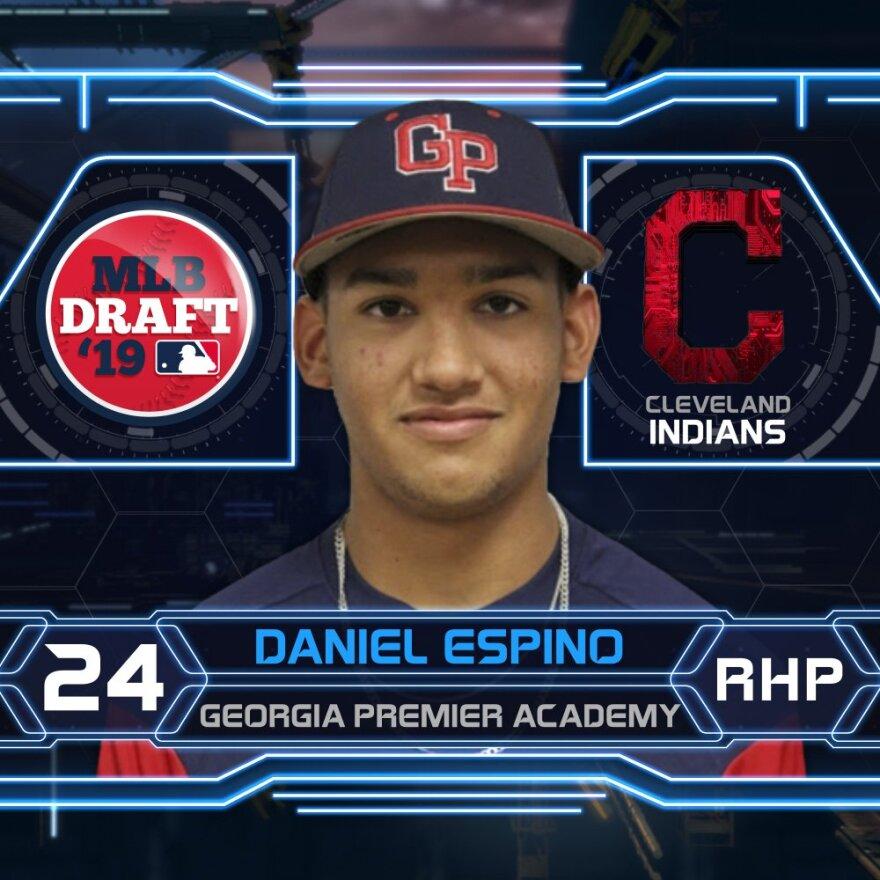 a photo of Indians prospect Daniel Espino