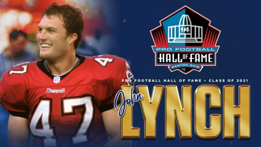 John Lynch in the Hall of Fame