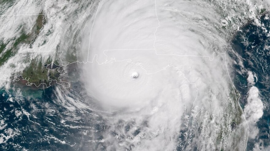 Hurricane Michael, seen here on Oct. 10 as it neared the Florida Panhandle, was the strongest storm to hit the area since records were first kept.