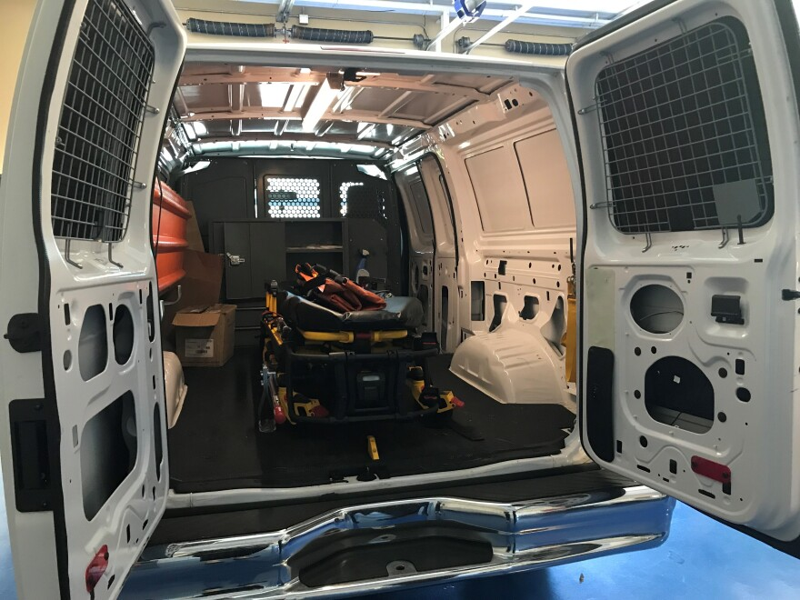 This van is used by the JCESA to transport deceased who are non-medical examiner cases and who have no prior death arrangements. JCESA purchased this van in 2017 to tackle an increase in calls and manage a loss in local resources.