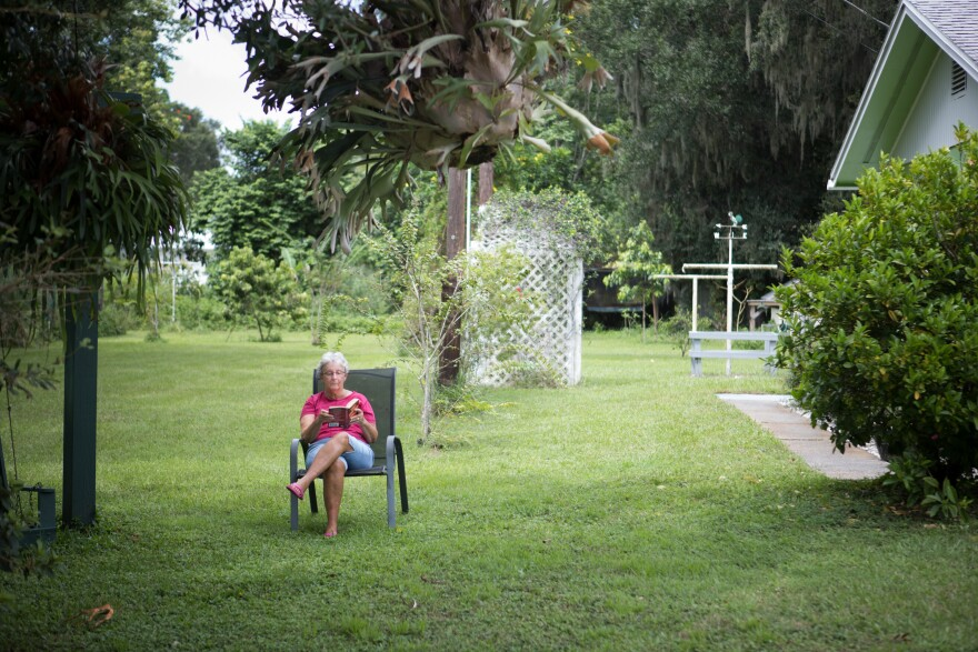 Judy Brown has lived on Browns Road in Laurel, Fla., for 67 years, and says she isn't scared of Irma. Despite her home being in a mandatory evacuation zone, she plans to stay.