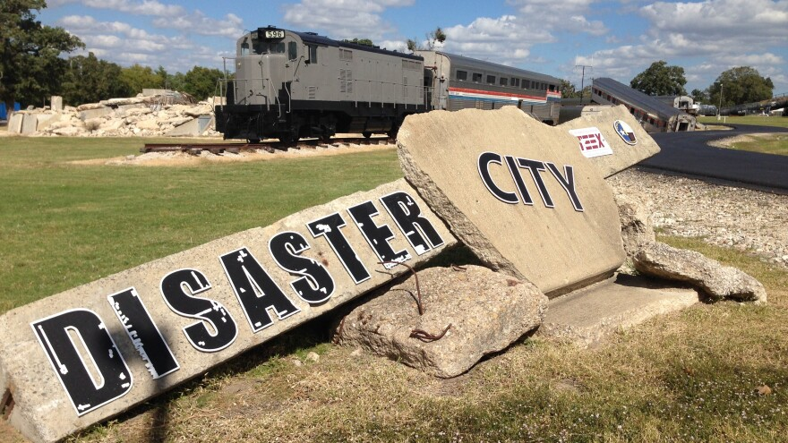 """Since it was built by the Texas A&M Engineering Extension Service in 1998, 90,000 emergency responders have come to """"Disaster City"""" to climb over mangled steel and through derailed chemical trains."""