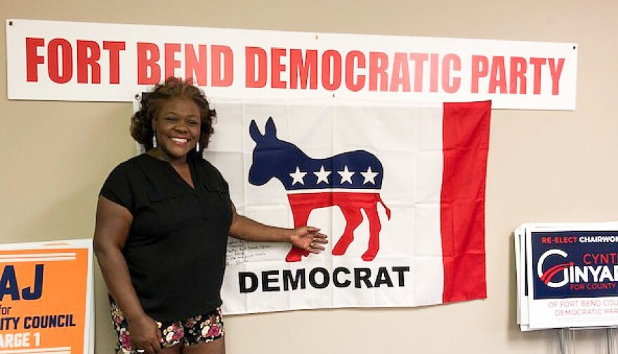 Cynthia Ginyard established a permanent headquarters in Sugar Land for the Fort Bend Democratic Party after she became chairwoman in 2016. Before, the county party only had a headquarters just before primaries and elections.