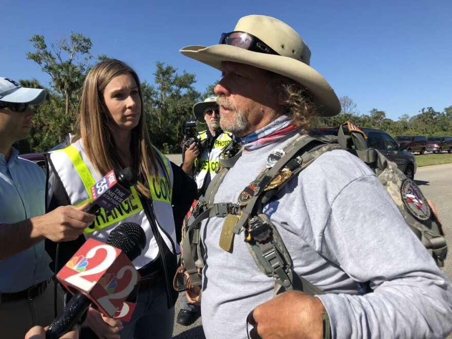 """Tom """"Bull"""" Hill is walking from Key West to Tallahassee to raise awareness for cancer."""