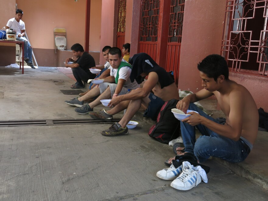 Migrants at a shelter in southern Mexico say that Mexico's interior checkpoints are making it harder to travel north. Some have given up on reaching the U.S. and are trying to stay in Mexico.