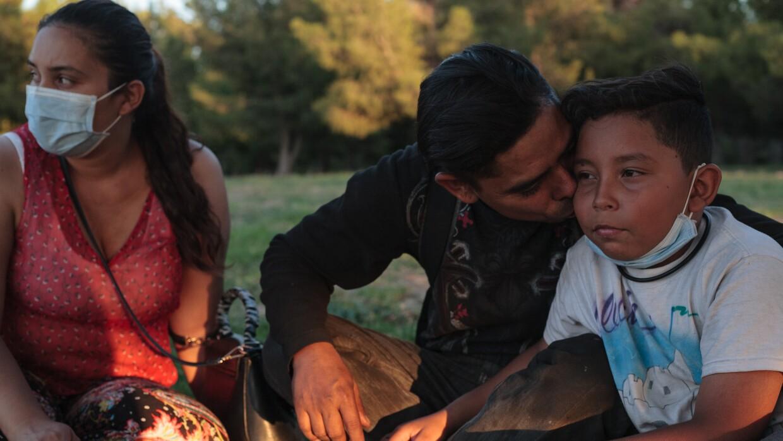 Cesar, Carolina & Donovan at a park