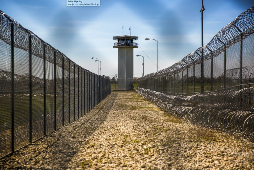 The grounds of a Texas prison.