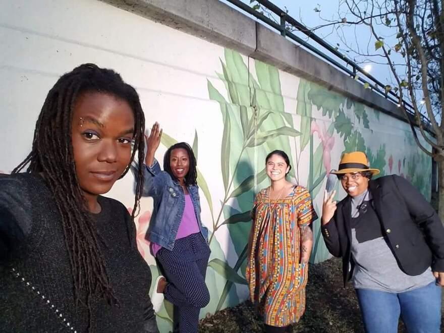 Andrea Unsworth, Sunshine Lencho, Nina Parks and Amber Senter.