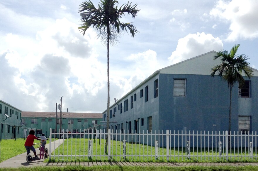 Liberty Square, a 700-unit low-rise complex, is in the heart of one of Miami's most crime-plagued neighborhoods. Miami officials recently announced plans to demolish the building and relocate residents to new public housing.
