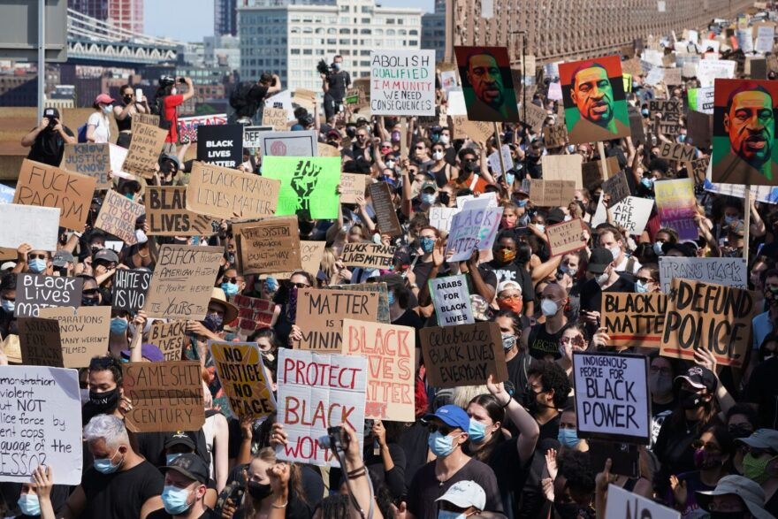 After the death of George Floyd, a Black man killed by a white officer in Minneapolis, people took to the streets around the world to protest police brutality and centuries of white supremacy