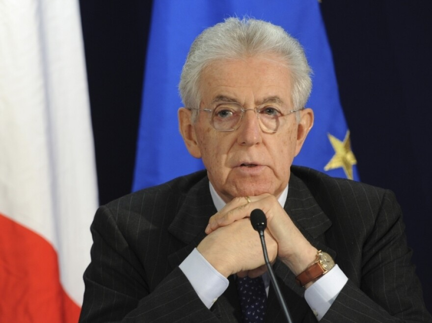 Italian Prime Minister Mario Monti, shown here during an EU summit in Brussels on March 2, is facing his biggest challenge yet over proposed changes to the country's labor laws.